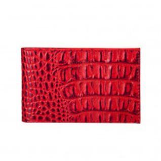 Визитница горизонталья, натур. Кожа, 40 визиток/20 карт V.30.KM.красный