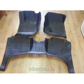 Кожаные автоковрики Volkswagen Tiguan чёрный 2007-2014-907307