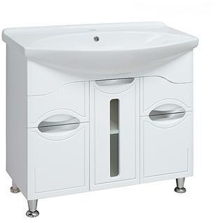 Тумба для ванной Runo Толедо 85 без Раковины (Лагуна 85) Белая
