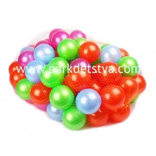 Пластмассовые шарики Нордпласт d-8см 100 штук в сетке-848106