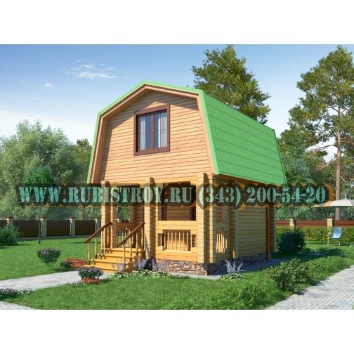 """Проект """"ПОЛЯНКА"""" из профилированного бруса 145 х 190 мм, размер 5 х 4, площадь дома 33 кв.м.-465312"""