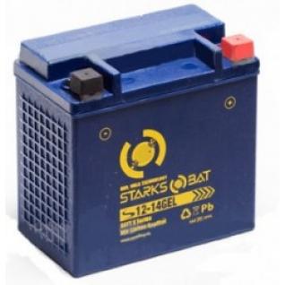 Аккумулятор для мототехники STARKSBAT STARKSBAT YT S 12-14 GEL 220А обратная полярность 14 А/ч (148x87x143)-5789167