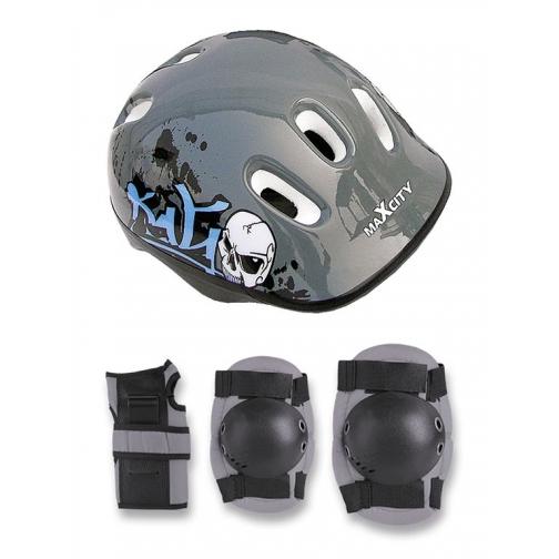 Набор защиты для детей MaxCity Caribo (серый)-5999576