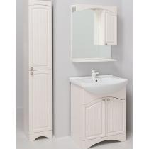 Шкаф-зеркало Onika Лагуна 65.01 белое дерево правый