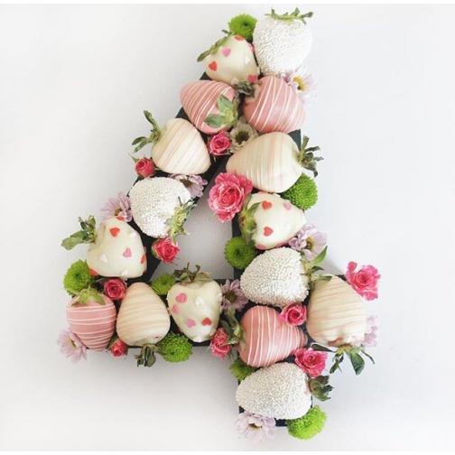 Цифры из клубники в шоколаде (1 шт/16 ягод)-7205118