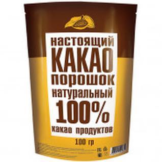 Какао порошок натуральный, м/у 100гр.