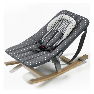 Кресло Geuther Кресло-качалка Geuther Rocco серое в горошек-1962056