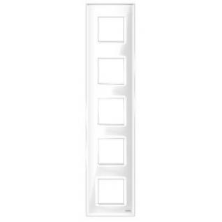 "Пятипостовая рамка вертикальная стеклянная белая ""эстетика"" gl-vp105-wc"
