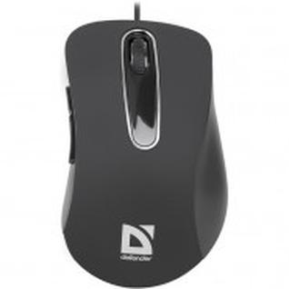 Мышь компьютерная Defender Datum MM-070, 5 кн., 1000 dpi, черная