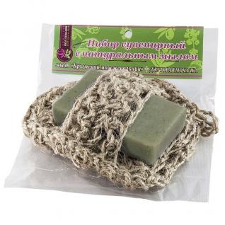 Мочалка с мылом Можжевельник из джута-4957647