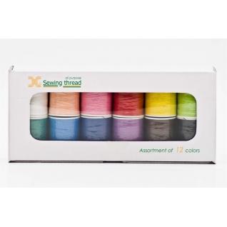 Jaguar Набор ниток для швейных машинок, 12 цветов