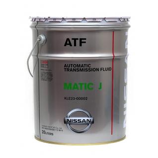 Трансмиссионное масло NISSAN ATF Matic J 20л арт. KLE2300002-5926862
