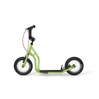 """Детский самокат Yedoo Tidit New (зеленый) с ручными тормозами и колесами 12""""-37649458"""