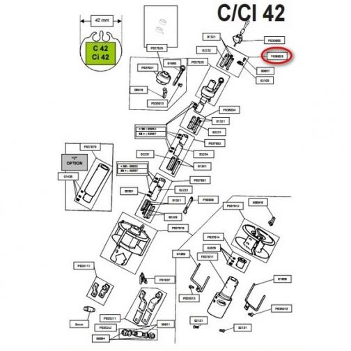 Profurl Верхний упор Profurl P036033 для L42/CL42/C42-6852188