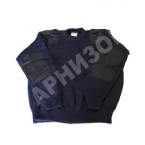 Свитер уставной синего цвета с карманом