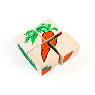 """Набор кубиков """"Сложи рисунок"""" - Овощи Томик-37746505"""