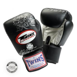 Twins Special Боксерские перчатки Twins FBGV-6S, 16 унций, Черный