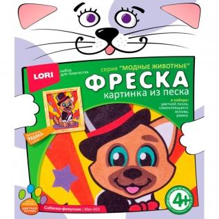 """Фреска """"Модные животные"""" - Собачка-фокусник LORI-37713317"""