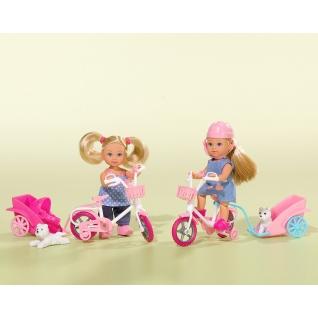 Кукла Еви на велосипеде с собачкой, 12 см Simba-37721061