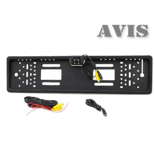 Камера заднего вида в рамке номерного знака AVIS AVS388CPR CMOS с LED подсветкой Avis-832920