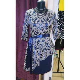 Платье с баской ML 900-6663705