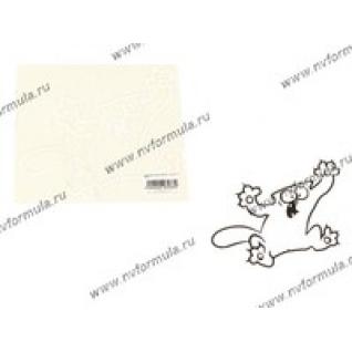 Наклейка Simon's cat когти белая 17х20-431487