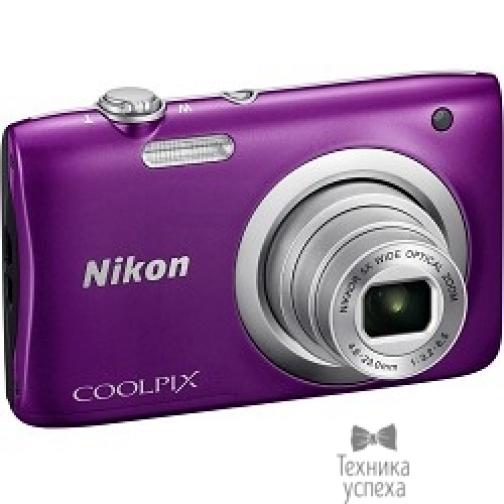"""Nikon Nikon CoolPix A100 фиолетовый 20.1Mpix Zoom5x 2.7"""" 720p 25Mb SDXC CCD 1x2.3 IS el 10minF/EN-EL19-5863913"""
