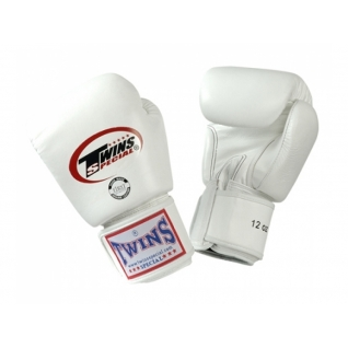 Twins Special Перчатки боксерские Twins BGVL-3, 8 унций, Белый