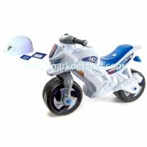 Двухколесный мотоцикл-каталка со шлемом, значком и протоколом Орион