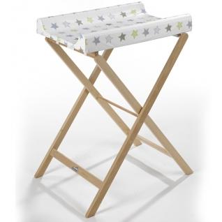 Пеленальный стол Geuther Складной пеленальный столик Geuther Trixi натуральный (поверхность - белая со звездами)