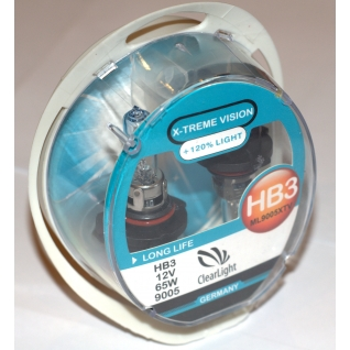 Лампа HB3(Clearlight)12V-65W X-treme Vision +120% Light (2 шт.)