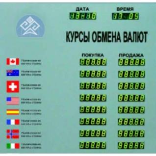Табло котировок валют TEK-8-448017