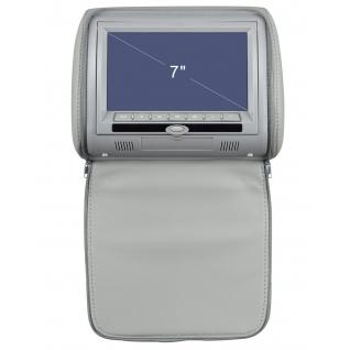 """Подголовник с монитором 7"""" и встроенным DVD плеером FarCar-Z008 (Grey)-36994959"""