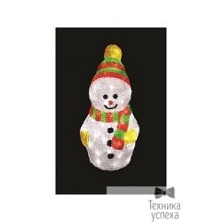 "Neon-night NEON-NIGHT (513-275) Акриловая фигура ""Снеговик с шарфом"" 30 см, 40 белых светодиодов"