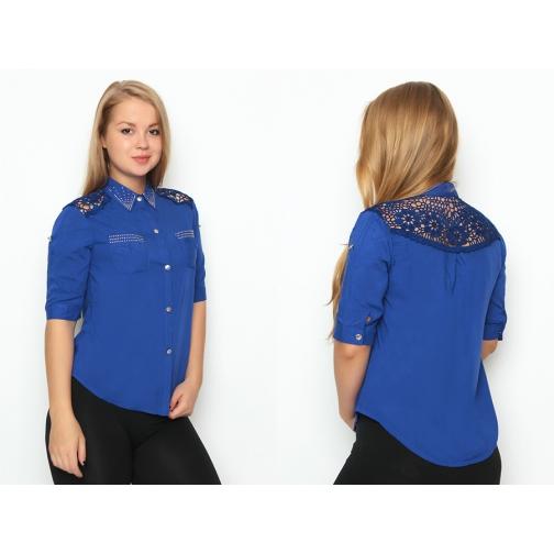 Блуза с коротким рукавом 46 размер-6686987