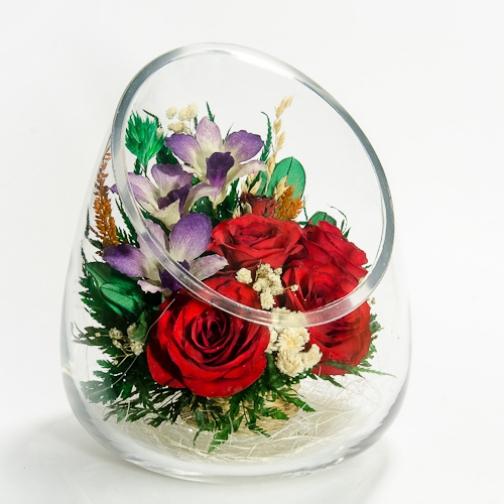 ApM-m2 цветы в стекле натуральные-4999661
