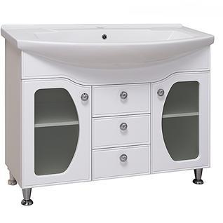 Тумба для ванной Runo Линда Люкс 105 без Раковины (Элеганс 105) Белая