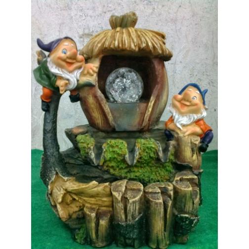 Декоративный фонтан | Настольный для дома | Гномы у домика-5255114