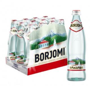 Вода минеральная Боржоми 0,5 л газ. ст. 12шт/уп