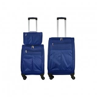 Monopol Комплект чемоданов 3в1 Monopol Tortuga - Blue (M+S+Бьюти кейс)