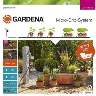 Комплект Gardena микрокапельного полива, базовый с таймером