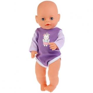 Одежда для кукол 'Карапуз' 40-42 см, сиреневый боди 'единорог' в пак. в кор.200шт-37797061