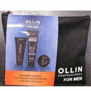 Ollin Professional PREMIER FOR MEN - Набор (Шампунь + воск + гель)