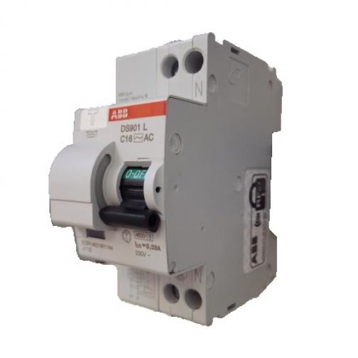 ABB Дифавтомат ABB DS201 C16 A10 2-полюсный характеристика C 16A 10mA тип А-5655696