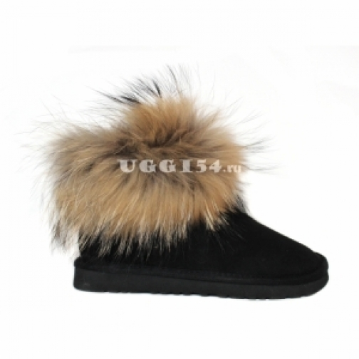 UGG Australia Mini Fox Fur Black-903203