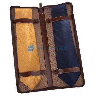Чехол для галстуков Alessandro Venanzi, коричневый-763713