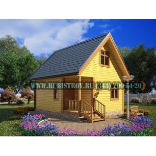 Дачный дом по проекту СТТ-4, из обрезного бруса сечением 150 х 150 мм., площадь дома 61,0 кв.м, размер 6,0 х 7,0 м.