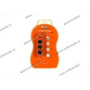 Прикуриватель на 3 гнезда AIRLINE ASP-3U-03 с USB-432777