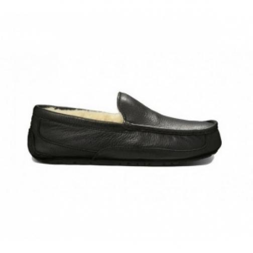UGG Australia Mens Ascot Black Leather-903253
