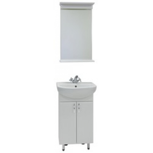 Комплект мебели Модерн 50 белый (тумба с раковиной и зеркало)-828720